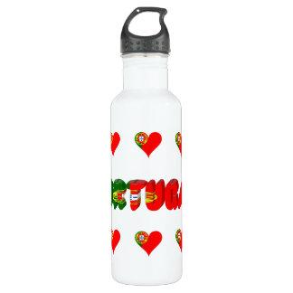 Portuguese hearts 710 ml water bottle