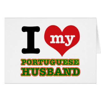 Portuguese I heart designs Greeting Card