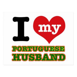 Portuguese I heart designs Post Cards