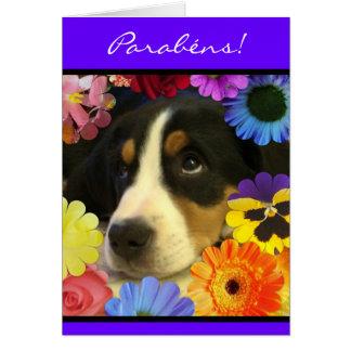 Portuguese: Parabens cachorrinho Card
