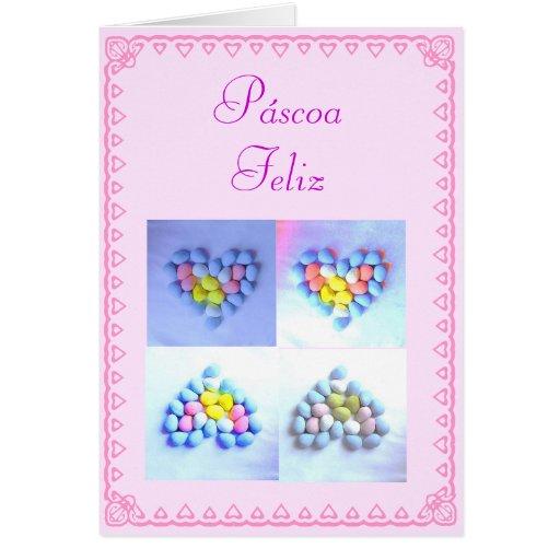 Portuguese: Páscoa / Easter eggs Card