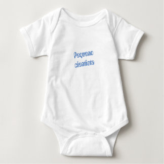 "Portuguese ""Pequeno cientista"" baby bodysuit"