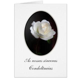 Portuguese: Pesames/ Condolencias Greeting Card