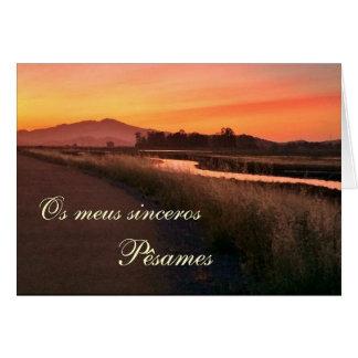 Portuguese: Pesames e paisagem por do sol Card
