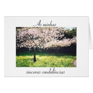 Portuguese: Pêsames /frase inspiracional/ sympathy Greeting Card
