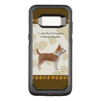 Portuguese Podengo Pequeno on Tan Leaves OtterBox Commuter Samsung Galaxy S8 Case