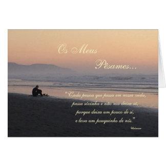 Portuguese: Poema de Condolencias Card