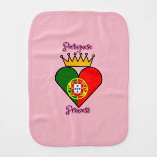 Portuguese Princess Burp Cloth