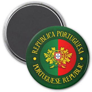 Portuguese Republic 3 Inch Round Magnet