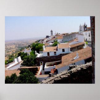 Portuguese Roofs - Evora Portugal Poster