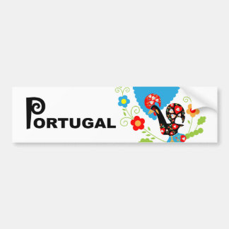 Portuguese Rooster of Luck bumper Bumper Sticker