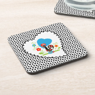 Portuguese Rooster of Luck Cork Coaster