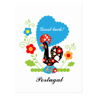 Portuguese Rooster of Luck Postcards