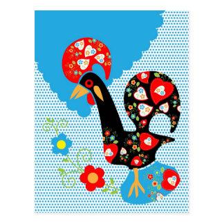 Portuguese Rooster Symbol Postcard