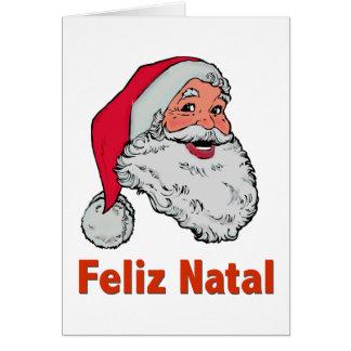 Portuguese Santa Christmas Card