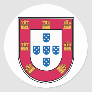 Portuguese Shield Classic Round Sticker