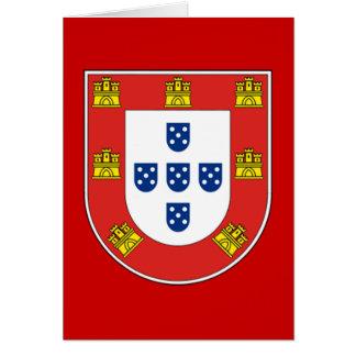 Portuguese shield greeting card