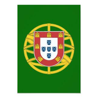 Portuguese shield 5x7 paper invitation card