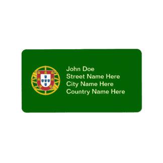 Portuguese shield label