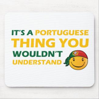 portuguese smiley designs mouse pad