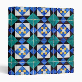 Portuguese Square Tiles Signature Ring Binder