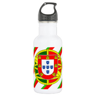 Portuguese stripes flag 532 ml water bottle