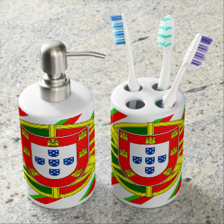Portuguese stripes flag bathroom set