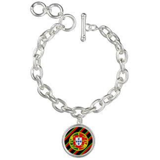 Portuguese stripes flag charm bracelets