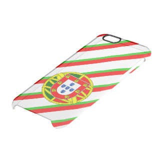 Portuguese stripes flag clear iPhone 6/6S case
