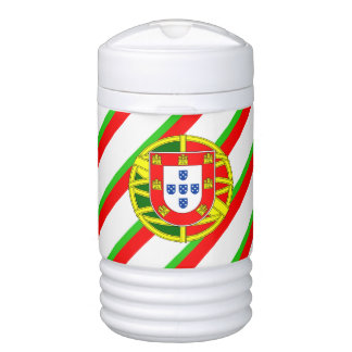 Portuguese stripes flag cooler