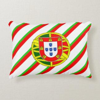 Portuguese stripes flag decorative pillow