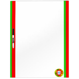 Portuguese stripes flag dry erase board