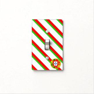 Portuguese stripes flag light switch cover