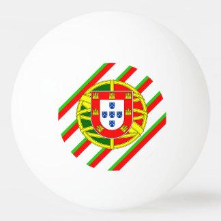 Portuguese stripes flag ping pong ball