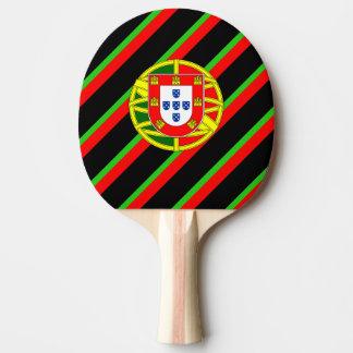 Portuguese stripes flag ping pong paddle