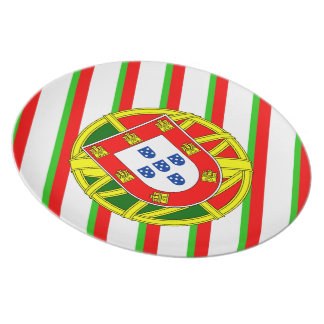 Portuguese stripes flag plate