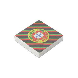 Portuguese stripes flag stone magnets