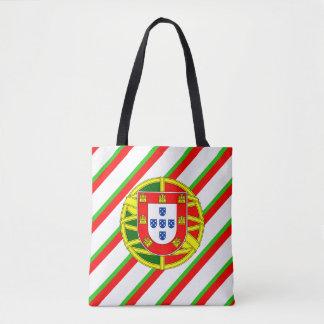 Portuguese stripes flag tote bag