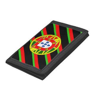 Portuguese stripes flag tri-fold wallet