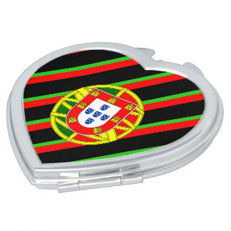 Portuguese stripes flag vanity mirror