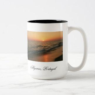 Portuguese sunset Two-Tone coffee mug