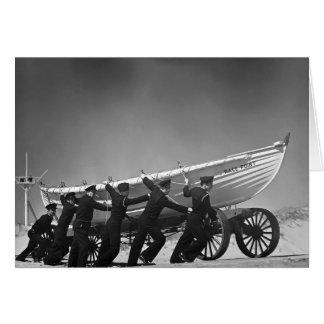 Portuguese Surf Boat Crew,1942 Card
