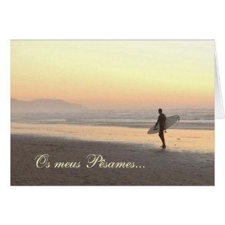 Portuguese: Sympathy card: Surfer Greeting Card