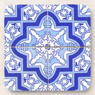 Portuguese Tile Blue and White Beverage Coaster