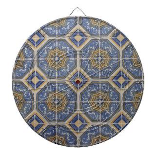 Portuguese tile dartboard