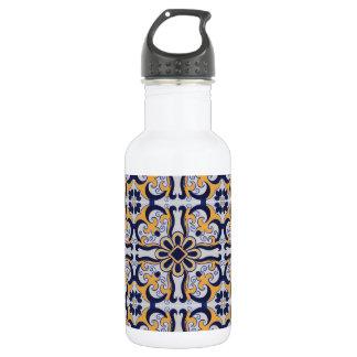 Portuguese tile pattern 532 ml water bottle