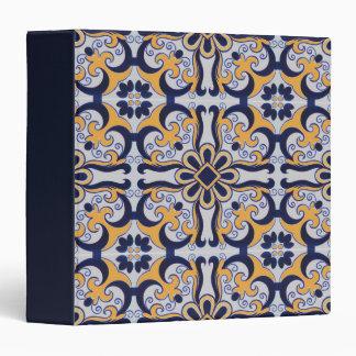 Portuguese tile pattern binders