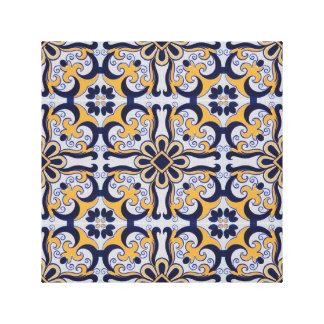 Portuguese tile pattern canvas print
