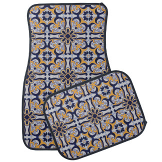 Portuguese tile pattern car mat