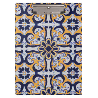 Portuguese tile pattern clipboard